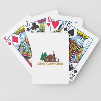 Cabin Sweet Cabin Bicycle Playing Cards
