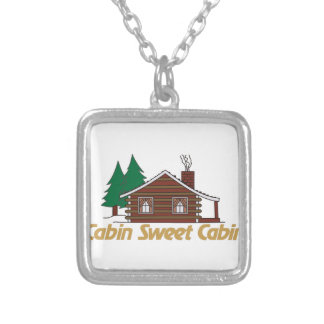 Cabin Sweet Cabin Silver Plated Necklace