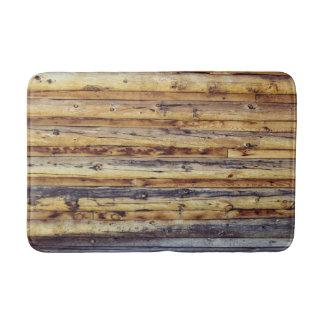 Cabin Wood Bath Mats