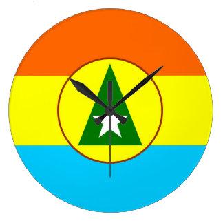 Cabinda region Angola flag symbol Large Clock