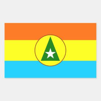 Cabinda region Angola flag symbol Rectangular Sticker