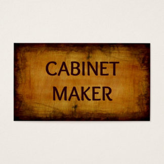 Cabinet Maker Business Card