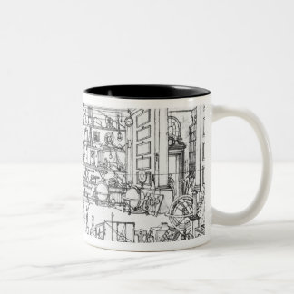 Cabinet of physics, 1687 Two-Tone coffee mug