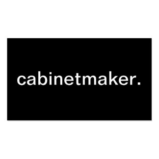 Cabinetmaker Pack Of Standard Business Cards