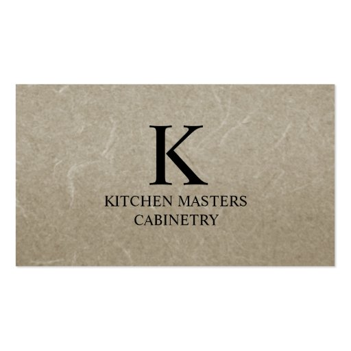 Cabinetry/Remodeling Business Card