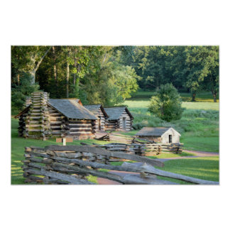Cabins at Valley Forge Poster