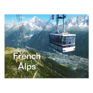 Cable car above Chamonix Postcard
