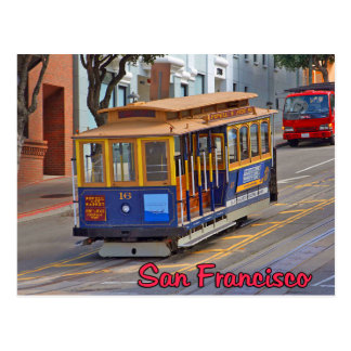 Cable Car in San Francisco Postcard
