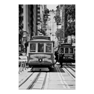 CABLE CAR IN SAN FRANCISCO POSTER