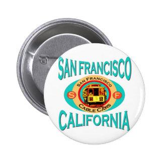 Cable Car San Francisco Pinback Button