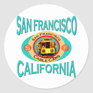 Cable Car San Francisco Round Sticker