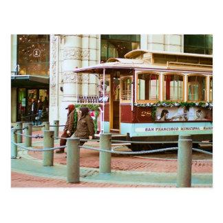 Cable Car turn-around Postcard
