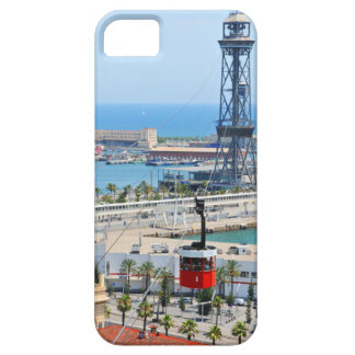 Cable cars (funiculars) in Barcelona iPhone 5 Covers