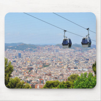 Cable cars (funiculars) in Barcelona Mouse Pad