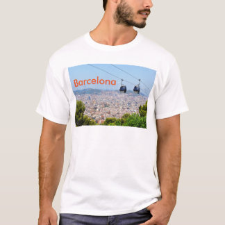 Cable cars (funiculars) in Barcelona T-Shirt
