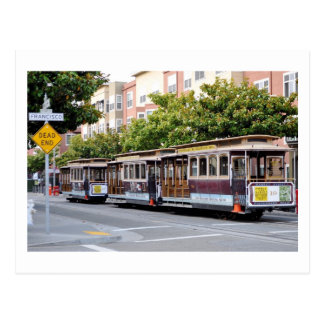 Cable Cars of San Francisco, CA Postcard