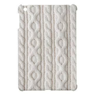 Cable knit fabric background cover for the iPad mini