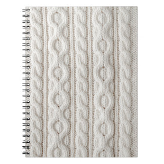 Cable knit fabric background notebook