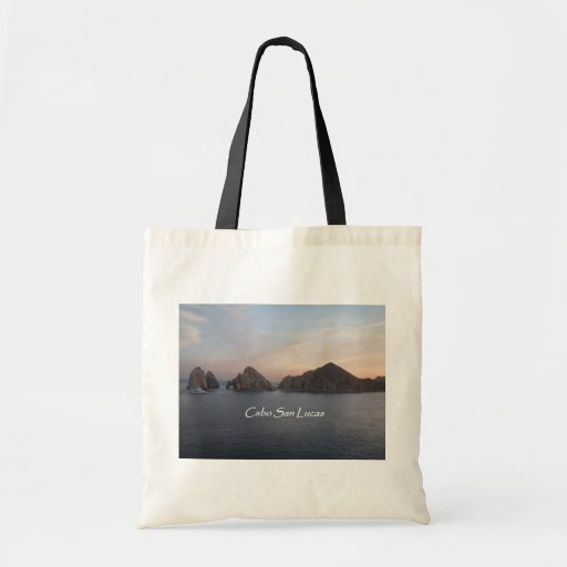 Cabo San Lucas at Sunset Canvas Bags