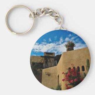 Cabo San Lucas, Baja, Mexico  flowers Basic Round Button Key Ring