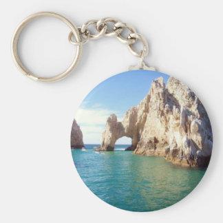 Cabo San Lucas Basic Round Button Key Ring