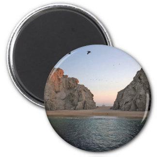 Cabo San Lucas Mexico Lover's Beach 6 Cm Round Magnet