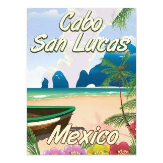 Cabo San Lucas Mexico travel poster Card