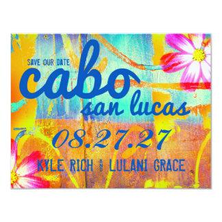 CABO SAN LUCAS Save the Date Destination 11 Cm X 14 Cm Invitation Card