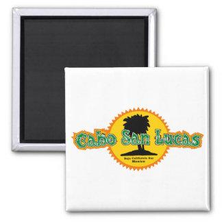 Cabo San Lucas Sun Square Magnet