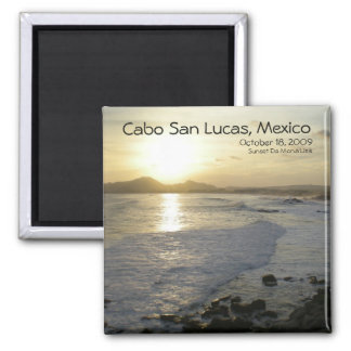 Cabo San Lucas view from Sunset Da Mona Lisa Square Magnet