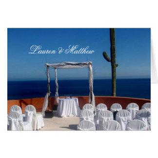Cabo San Lucas wedding Card