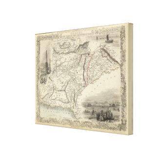 Cabool, The Punjab and Beloochistan Canvas Print