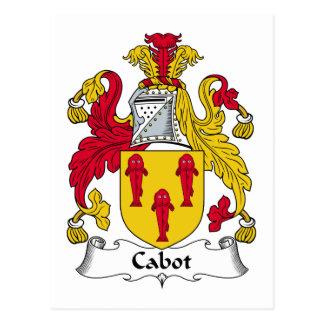 Cabot Family Crest Postcard