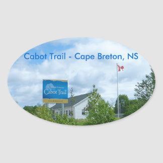Cabot Trail Oval Sticker