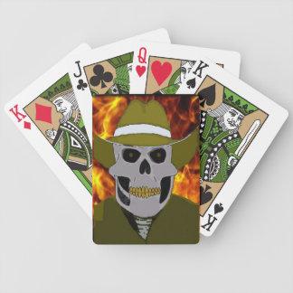 Cabots Skull Cowboy Playing Cards