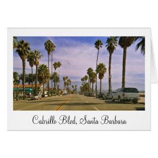 """Cabrillo Blvd, Santa Barbara"" Card"