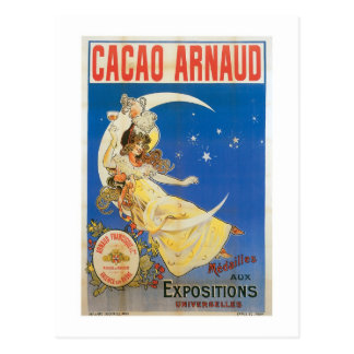 Cacao Arnaud Vintage Chocolate Drink Ad Art Postcard