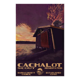 Cachalot Large WPA-Style Poster