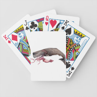 Cachalote and calamary bicycle playing cards