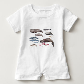 Cachalote and zifios: Whales of the depths Baby Bodysuit