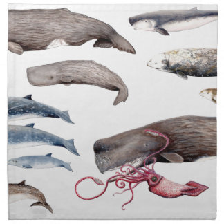 Cachalote and zifios: Whales of the depths Napkin