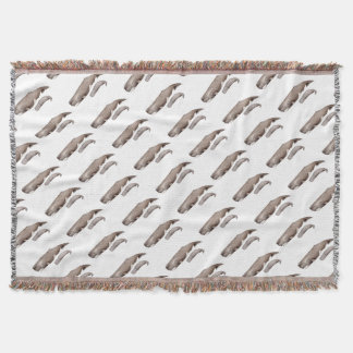 Cachalote, mother and young throw blanket