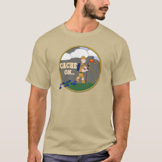 CACHE ON! GEOCACHING DUDE T-Shirt