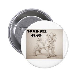 cachorro shar-pei botón