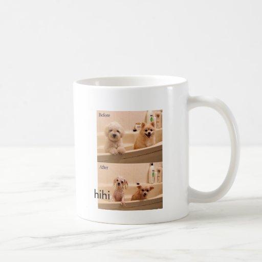 cachorros in the bath coffee mugs
