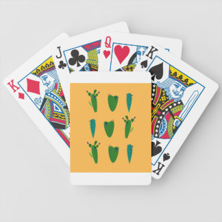 Cacktuses on gold bicycle playing cards