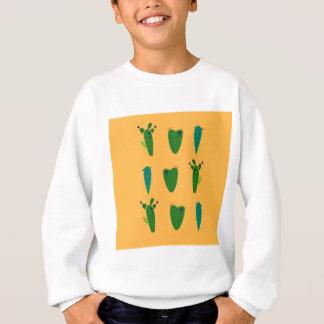 Cacktuses on gold sweatshirt