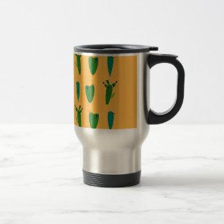 Cacktuses on gold travel mug