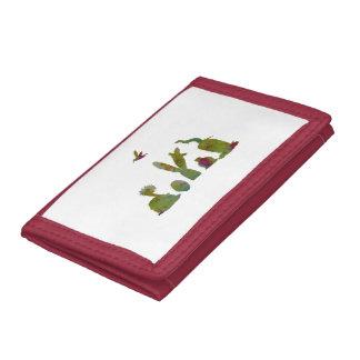 Cacti art tri-fold wallet