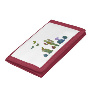 Cacti art trifold wallet
